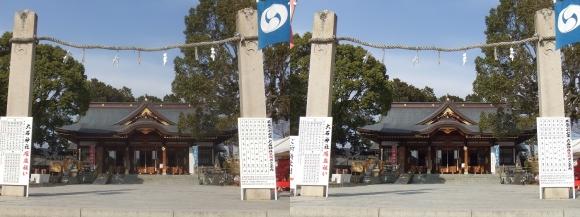 赤穂大石神社 拝殿(平行法)