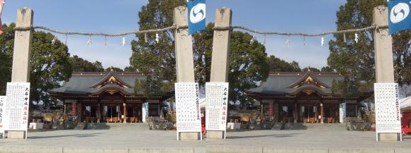 赤穂大石神社 拝殿(交差法)
