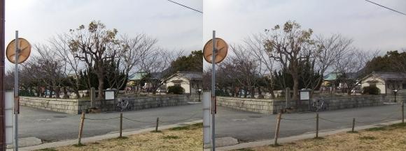 赤穂大石神社 遠景(交差法)
