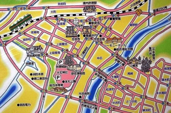 赤穂市街MAP