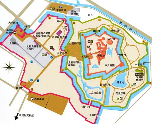 赤穂城跡見取図