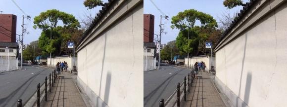 大阪城北詰駅出口(交差法)