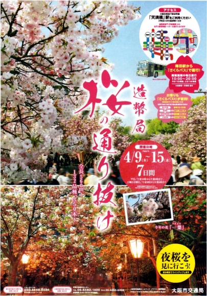 造幣局 桜の通り抜けポスター