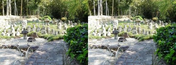 竹の資料館 石仏群③(平行法)