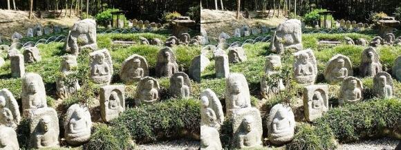 竹の資料館 石仏群②(平行法)