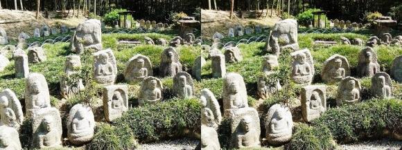 竹の資料館 石仏群②(交差法)