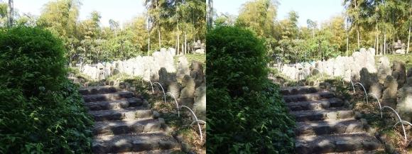 竹の資料館 石仏群①(交差法)