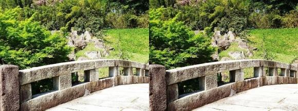 竹の資料館 百々橋②(交差法)