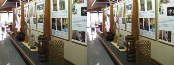 竹の資料館 館内展示物①(平行法)