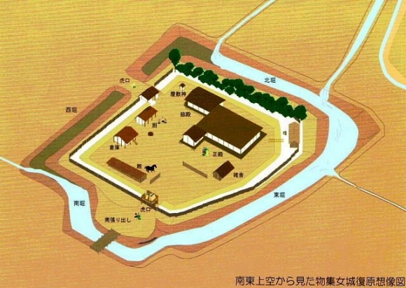 物集女城復元図