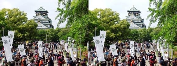 大阪城天守閣④(平行法)