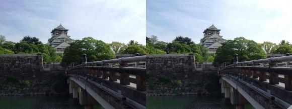 大阪城天守閣①(平行法)