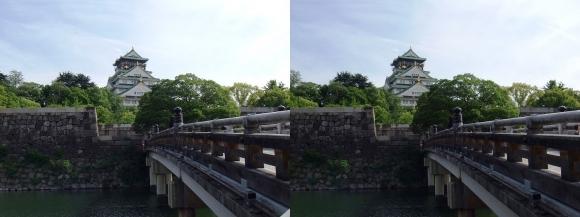 大阪城天守閣①(交差法)