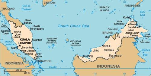 04 500 Malaysia Map Johor Bahru