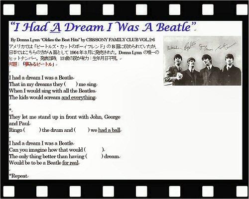 08 500 Script:I Had a Dream I was a Beatle