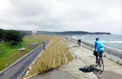 防潮堤サイクリングロード2