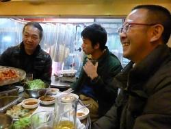 g村山義光講師と終了後、サムギョプサル晩御飯