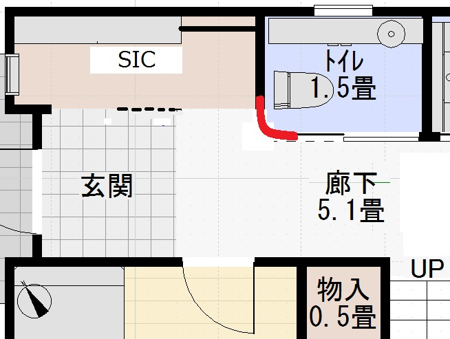 R壁(玄関)
