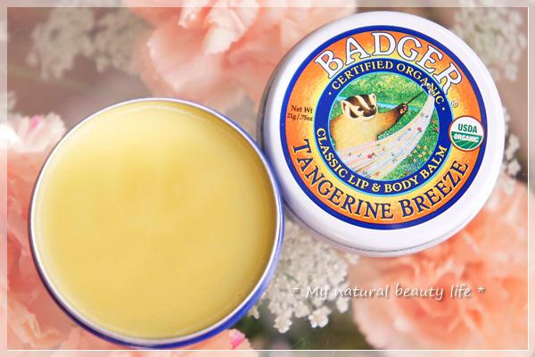 Badger Company, Classic Lip & Body Balm, Highland Mint, Tangerine Breeze