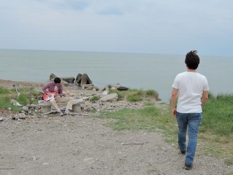 ひろしと米代川河口1