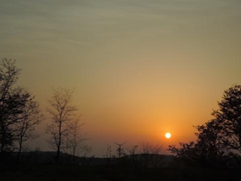 秋田の夕日2015111