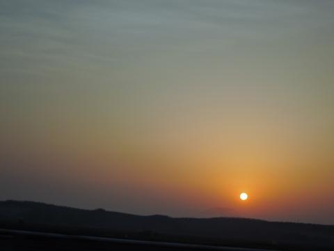 秋田の夕日2015113