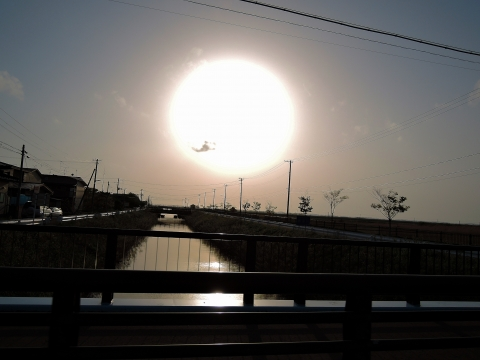 秋田の夕日2015125