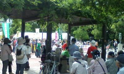 金公園の集会