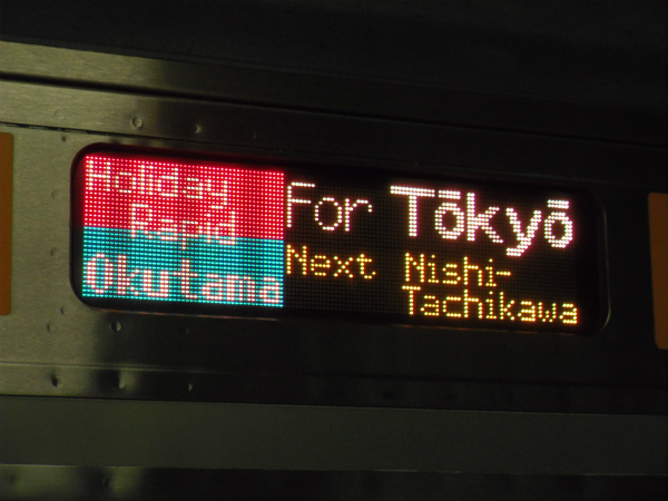 ホリデー快速 東京行き