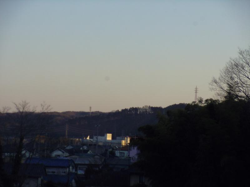 1月8日 飯能 河岸段丘 送電線