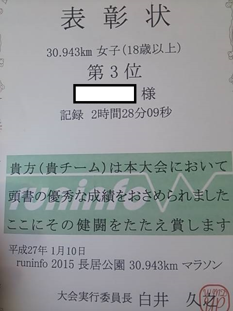 2015長居賞状