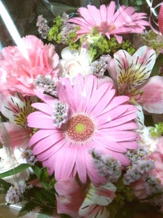 花束もらった