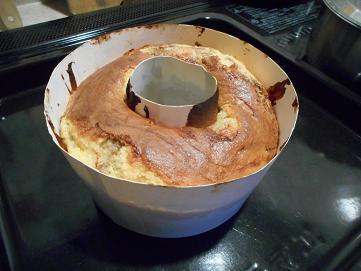 バナナチョコレートケーキ焼き上がり