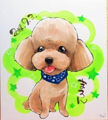 犬 似顔絵