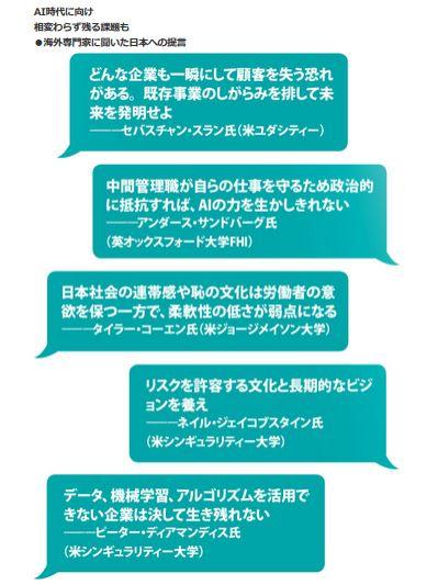 AI時代に向け相変わらず残る課題も<br />・海外専門家に聞いた日本への提言