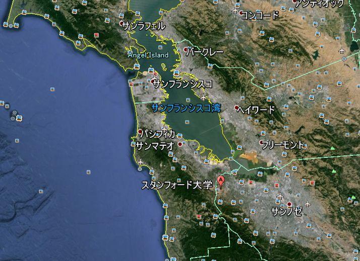 シリコンバレー Google Earth による