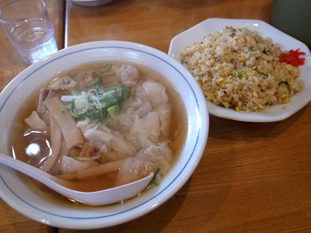 ワンタン麺炒飯