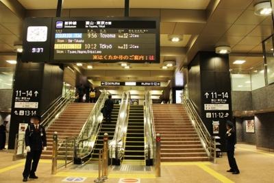 北陸新幹線金沢駅改札内コンコース