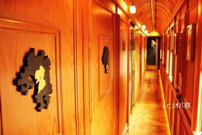 ななつ星ゲストルームの通路