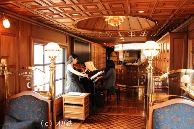 ななつ星ピアノとヴァイオリンの生演奏