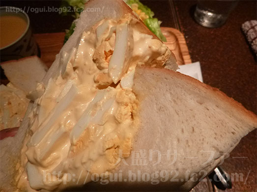 銀座アメリカンのタマゴサンドイッチセット043