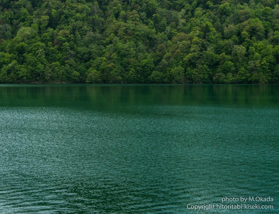 岩尾内湖の湖面