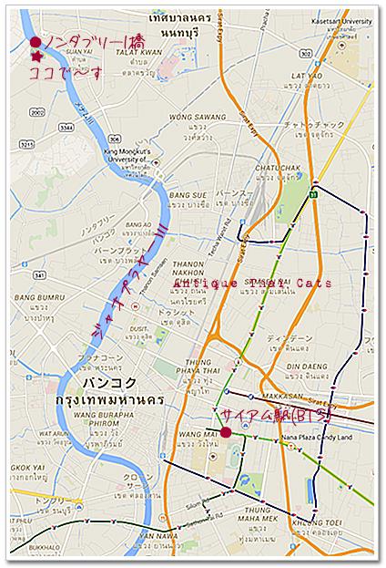 map 地図 タイ・Thai・ไทย Chaloem Kanchanaphisek Park อุทยานกาญจนาภิเษก カンチャナピセーク公園 サヨナライツカ ロケ地