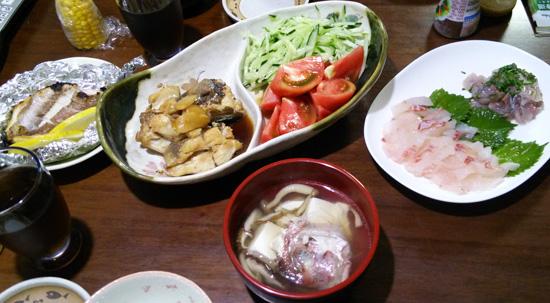 魚づくしの夕飯1507