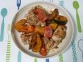 鶏肉とカボチャの洋風炒め1