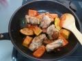 鶏肉とカボチャの洋風炒め6