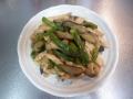 鶏ムネ肉とナスの味噌炒め1