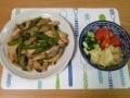 鶏ムネ肉とナスの味噌炒め2