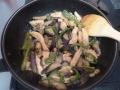 鶏ムネ肉とナスの味噌炒めa