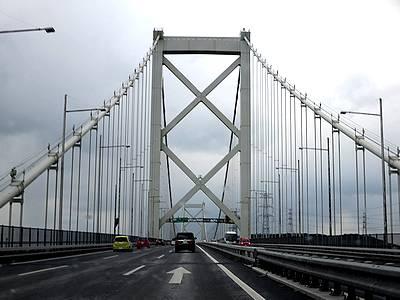 関門橋を渡り、九州とお別れ